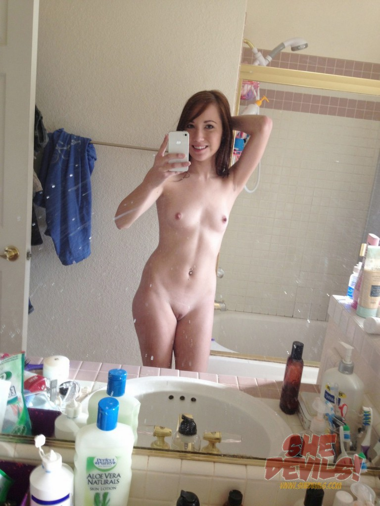 Gorgeous and slim teen IPhone self shooter | Wild Self Shots