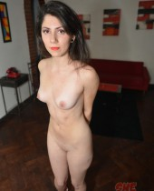 Exotic old time brunette gets naked